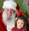 Brooke West Photography - Santa and Child